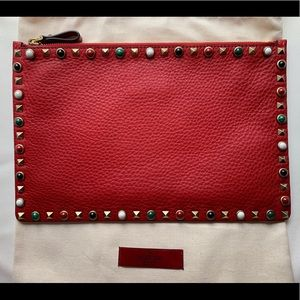 VALENTION ROCKSTUD ROLLING POUCH - LIMITED